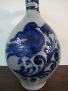 Westerwald Salt Glazed Stoneware Jug from Germany around 1880