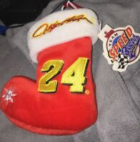 "NASCAR Team Speed Bears Jeff GORDON  #24 Christmas Stocking ORNAMENT 4 1/2"" Xmas"