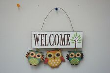 Wood Wall Hanging Funky Owl Ornament Wall Garden Decor Free Shipping