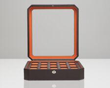 WOLF Windsor 15 Piece Watch Box (Brown/Orange) Storage Case 458506