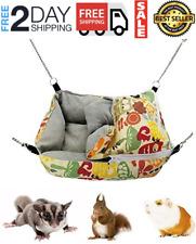 Guinea Pig Hanging Bed Ferret Accessories for Cage Rabbit Hedgehog Snuggle Sack