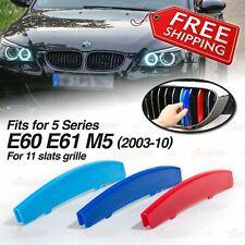 M-Tech 11 Slat Kidney Grille Color Cover Clip for BMW 5 Series E60 E61 M5 03-10