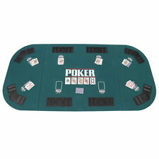 Casino Texas Holdem Folding Poker Padded Table Top For 8 Players Portable