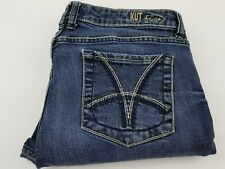 KUT FROM THE KLOTH Women's  Boot Cut Flare Blue Stretch Jeans Size 12 RN# 58539