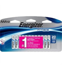 Energizer L92SBP12 Ultimate Lithium Batteries, AAA, 12/Pack