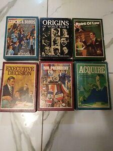 Lot of 6 games Five 3M Bookshelf Games & 1 Avalon Hill