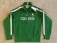 New w Tags Vancouver Canada 2010 Winter Olympic Men's Green Zip Fleece Jacket XS