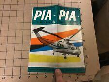 Original PIA Timetable Oct 27, 1963 -- 16pgs -- Pakistan International Airlines