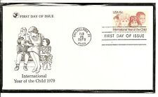 US SC # 1772 Year Of The Child FDC. Readers Digest Cachet