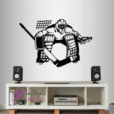 Vinyl Decal Ice Hockey Player Goalie Goal Keeper Sports Boys Wall Sticker 1574