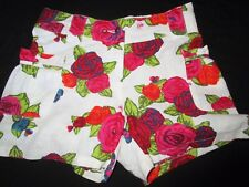 Girls  Size 10 Kenzo Kids linen blend shorts with exquisite rose print