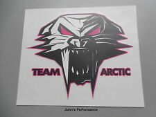 "Team Arctic Cat Pink Cathead 12"" Decal Sticker - Black White Pink - 5243-133"