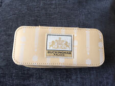 Rare BUCKINGHAM PALACE Royal Beige Striped Jewellery Box