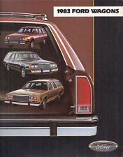 Ford wagons 1983 usa market sales brochure escort ltd wagon country squire