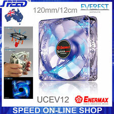 ENERMAX Everest Silence UCEV12 120mm Twister Bearing Blue LEDs Cooling Case Fan