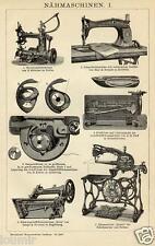 1893= MACCHINE PER CUCIRE ANTICHE = STAMPA Antica