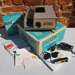 Hanimex 35mm Colour Slide Projector La Ronde 2000RF Vintage + Papers + Box MINT