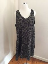 STUDIO TEN Sleeveless Print Long Swing Top Dress Size 18-20 (XL)