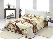 """Couplage de Couvre-lit """" marbre beige """" 220x240 85% acrylique/15% polyester"""