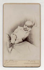 CDV - PHOTO - Enfant Bébé Bijou Main - J. ALLEVY à Paris - Vers 1900 Vintage