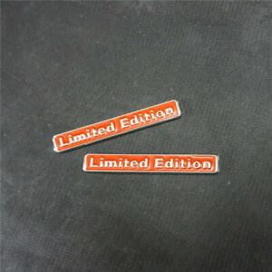 2PCS BIg Red Chrome Limited Edition Metal Badge Emblem Sticker Decal Auto Motors