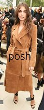 Suede Leather Trench coat Make To Order XS S M L XL 2XL 3XL L201