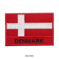 Denmark National Flag Embroidered Patch Iron on Sew On Badge For Clothes Bag etc