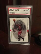 1998 SP Authentic Basketball #8 Michael Jordan - PSA 8 NM-MT Graded GOAT