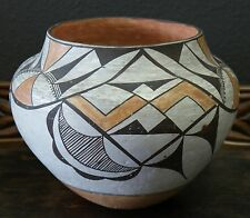 "Acoma Indian Pueblo Pottery 1940's Polychrome Decorated Jar 7 1/2"" x 9 1/2"""