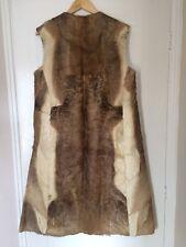 Men's Large Vintage Fur Animal Skin Coat Gilet Cape Theatre Prop Deer Reindeer