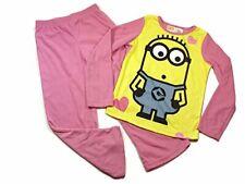 DESPICABLE ME UNIQUE Minion Girls Size 6//6X Graphic Pajama Top Fleece Pants