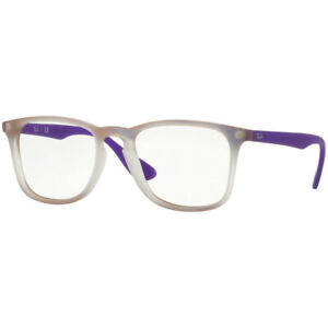 AUTHENTIC RAY-BAN RX7074 5600 VIOLET IRIDESCENT/DEMO LENS 52/18/145 EYEGLASSES