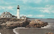 "*Maine Postcard-""Portland Head Light"" /1st Lighthouse Erected by US/  (ME10)"