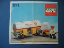 LEGO 671 Shell Tankwagen von 1978 Bauanleitung  -  Instructions only, no bricks