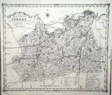 Lithography 1800-1899 Date Range Antique Europe County Maps