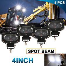 4x 4 Led Head Lamp For Caterpillar Skid Steers Excavator Forklift Light Loader