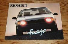 Original 1982 Renault Fuego Sales Brochure 82