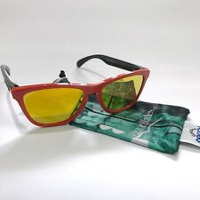 Oakley Sunglasses * Frogskins 9013-34 Heritage Red Fire Iridium Special Ed