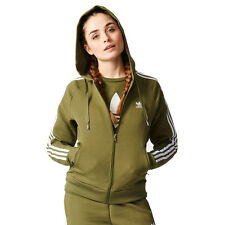 Adidas Women's Girl Z Hoodie Olive/Cargo Track Top Hoodie AY8942 NEW!