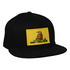 Don't Tread On Me Hat by LET'S BE IRIE - Black Snapback with Gadsden Flag