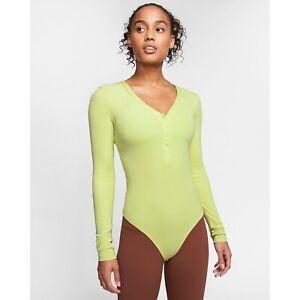 Nike Dri-Fit Women's Luxe HeNley Yoga Bodysuit CJ5276-367 Size Medium $85