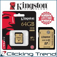 SD Card 64GB Kingston Class10 SDXC Memory Card HD Video Camera 90MB/s High-Speed