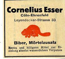 Cornelius Esser Cöln-Ehrenfeld Biber, Mörtelzusatz Trademark 1912