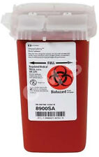 COVIDIEN KENDALL SharpSafety Phlebotomy Sharps Container 1Qt Red Waste Collector