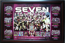 Queensland State of Origin 7 The Magnificent Seven Limited Edition Print Framed