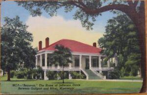 1950 Linen PC: Jefferson Davis Home/Beauvoir-Biloxi, MS