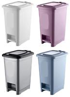 Kitchen Home Trash bin 10 Litre Pedal Dustbin Rubbish Waste Bins Garbage Can UK
