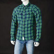 Abercrombie&fitch Hombre Blusa Talla L Verde Azul Auténtico