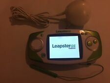 LEAP FROG LEAPFROG LEAPSTER EXPLORER GS GREEN CONSOLE + 3-PIN PLUG POWER ADAPTER