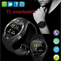 Bluetooth Y1 Smart Watch Relogio Android  Phone Call GSM SIM TF Camera
